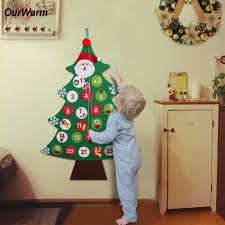 Christmas Decor For Home Aliexpress Com Buy Ourwarm Christmas Countdown Calendar New Year