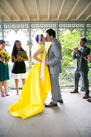 yellow wedding dress 15 yellow dresses for brides who want to channel their inner