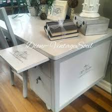 Vintage White Desks by Old Desk Painted With Vintage White Chalk Paint Sealed With
