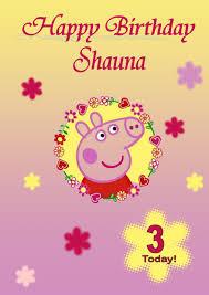 peppa pig birthday personalised peppa pig birthday card 1