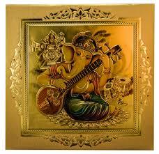 Hindu Wedding Invitations Wedding Invite With Elegant Image Of Ganesha Playing Sitar