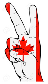 peace sign of the canadian flag royalty free cliparts vectors