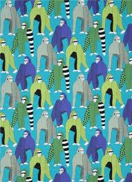 teal henry fabric gorilla animal obi kawaii fabric shop