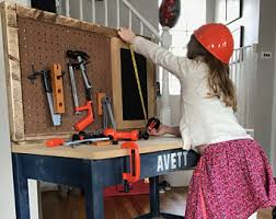 Boys Wooden Tool Bench Kids U0027 Benches U0026 Toy Boxes Etsy