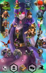 wallpaper coc keren for android clash of clan theme include all character in coc icons have fun gu