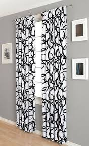 Large Print Curtains Curtain Lush Decor L U0027amour Eternel Black White Faux Silk 84