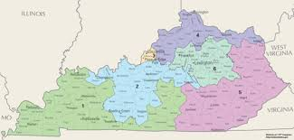 kentucky house map united states congressional delegations from kentucky