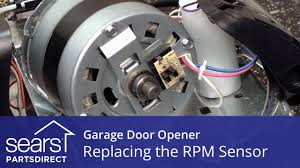 replacing the rpm sensor on a garage door opener youtube