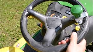 a common john deere riding mower steering problem youtube