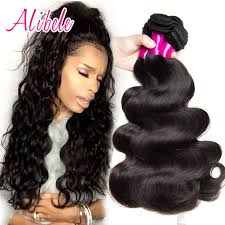 4 bundles brazilian body wave human hair weave unprocessed ali