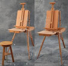 portable painting frame folding wood painting easel art toolbox