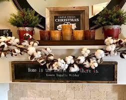 Christmas Decoration Ideas Fireplace Fireplace Garland Etsy