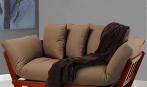 bench beautiful cotton futon mainstays silver metal arm futon