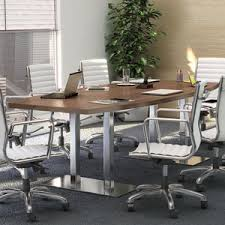 Modern Conference Room Tables by 8ft 20ft Modern Conference Table And Chairs Set With Metal Bases