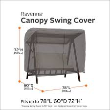 Classic Accessories Patio Furniture Covers - amazon com classic accessories ravenna patio canopy swing cover