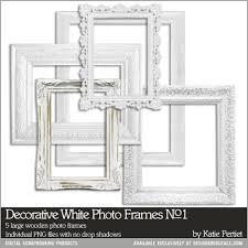 Decorative White Frames No 01 Katie Pertiet Elements