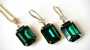 emerald earrings necklace images Swarovski emerald green crystal jewelry wedding bridal jpg