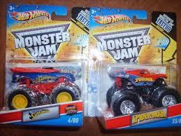 super hero monster jam trucks superman u0026 spiderman