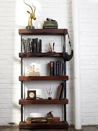 Distressed Wood Bookcase Vintage Inspired Bookcase Thesecretconsul Com