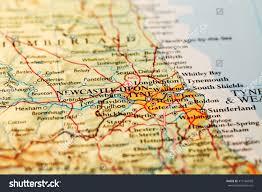England On Map Newcastle Upon Tyne England On Atlas Stock Photo 413166568