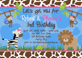 3rd Birthday Invitation Cards Best Safari Birthday Invitations Decorating Of Party