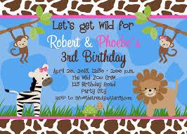 First Birthday Invitation Cards Templates Free Safari Birthday Invitation Cards Decorating Of Party