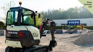 volvo global site volvo ce unveils 100 electric compact excavator prototype volvo