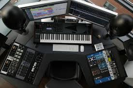 Home Recording Studio Desks by Piano Glossy Finish Give U0027s This Desk Design Awesome Look Studio