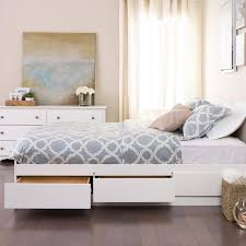 Ana White King Storage Bed by White Bed Frame Queen With Storage Frame Decorations