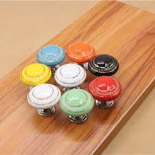boutons de porte de cuisine dia 35mm rond en céramique chambre meubles poignée de porte cuisine