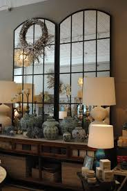 mirrors to reflect the light and make the room look grand