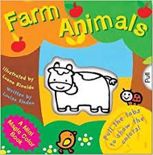 mini magic color book farm animals magic color books louisa