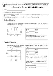 series and parallel circuit worksheets imperialdesignstudio