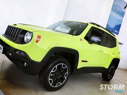 hyper green jeep 2017 jeep renegade trailhawk showroom storm jeeps
