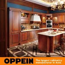 Luxury Kitchen Cabinets Manufacturers China Oppein Antique Alder Wood Luxury Kitchen Cabinets Op16 120b