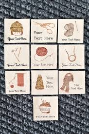 knitting and crochet labels custom knitting labels on by ananemone