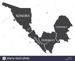 Sinaloa Mexico Map Sonora Sinaloa Durango Coahuila Map Mexico Illustration