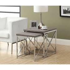 what are nesting tables monarch specialties dark taupe 2 piece nesting end table i 3255