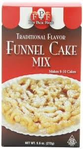 set of 4 traditional flavor funnel cake mix batter refills