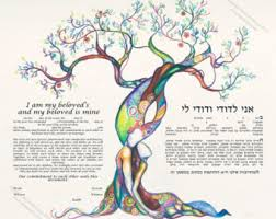interfaith ketubah tree ketubah watercolor interfaith ketubah modern ketubah