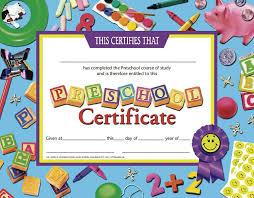 preschool certificates certificates preschool 30 set certificate blue background h va705