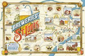map st louis zettwoch s suitcase breweries of st louis