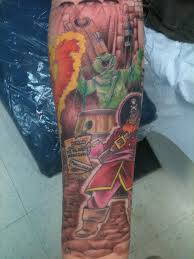scooby doo sleeve progresses tattoo by darin ennis at tattoo