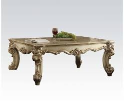 Traditional Coffee Table Ii Traditional Coffee Table In Gold Patina And Bone White