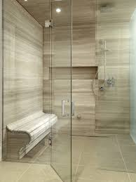 High End Bathroom Showers Spectacular High End Bathroom Tile Combined With Seat In The Glass