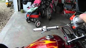 diablo mini chopper 110 cc 4speed manual youtube