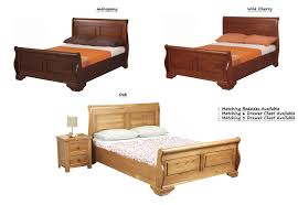 King Upholstered Sleigh Bed Bedroom King Size Oak Sleigh Bed King Upholstered Sleigh Bed