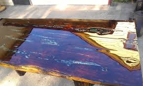 live edge table with turquoise inlay turquoise inlay dining room table barclaydouglas