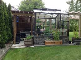 greenhouse the traditional incorporated with pergola hammock