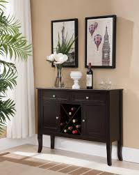 dark cherry wood wine rack buffet display console table with